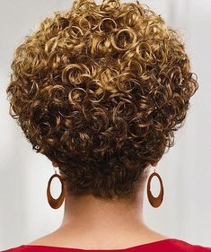 Kassidy Wig by Especially Yours® – Marcia Regina Alves - Perm Hair Styles Short Permed Hair, Short Thin Hair, Short Curls, Haircuts For Curly Hair, Curly Hair Cuts, Permed Hairstyles, Curly Hair Styles, Natural Hair Styles, Hair Styles For Women Over 50