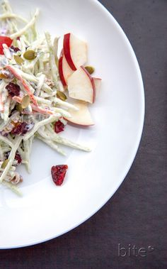 Apple Broccoli Cranberry Salad - Autumn on a plate!