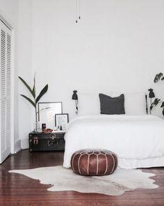 Simple white bedroom