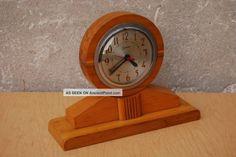 Wooden Mantel Clocks | Sessions Wooden Mantle Clock Mid Century Modern Vintage Mid-Century ...