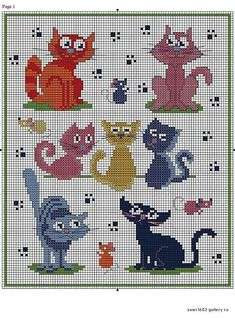 From the Web Cat Cross Stitches, Cross Stitch Charts, Cross Stitch Designs, Cross Stitching, Cross Stitch Embroidery, Embroidery Patterns, Hand Embroidery, Cross Stitch Patterns, Loom Patterns