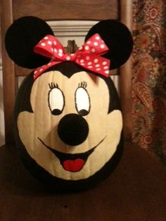 Painted pumpkin.  Cute for bday party.