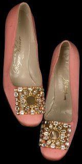 vintage pink shoes; Roger Vivier, 1960s