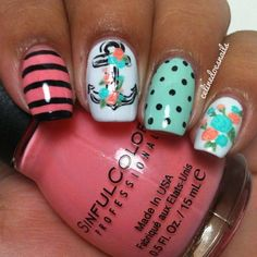10 Nautical Nail Designs You Need In Your Life STAT! #naildesign #nailart #nauticalnails