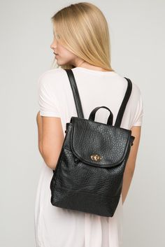 Brandy ♥ Melville | Leather Backpack - Accessories