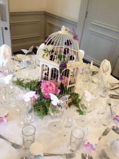 Bird cage wedding flowers at Woodlands Park Hotel Love Birds Wedding, Butterfly Wedding, Wedding Colors, Wedding Flowers, Our Wedding Day, Wedding Table, Diy Wedding, Wedding Ideas, Lantern Centerpieces