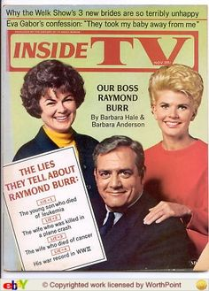 Barbara Hale aka Della Street and Raymond Burr aka Perry Mason joined by Barbara Andersen of Ironside