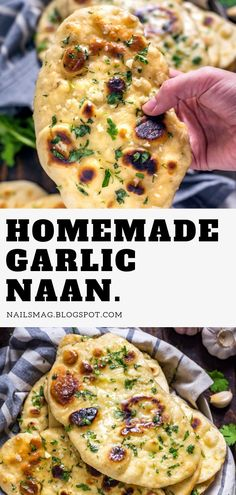 """Sharing with you one more, special dear to my family, recipe of Indian flat bread, world famous as """"Garlic Naan"""". Not just me, this naan is . Homemade Naan Bread, Recipes With Naan Bread, Bread Maker Recipes, Baby Food Recipes, Cooking Recipes, Healthy Recipes, Dessert Recipes, Diet Recipes, Keto Bread Coconut Flour"""