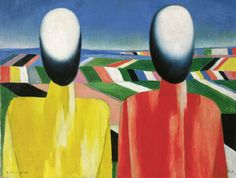 Kazimir Malevich, Peasants, c. 1930. Oil on canvas. 53 x 70 cm. State Russian Museum, St. Petersburg Photo © 2016, State Russian Museum, St. Petersburg.