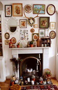Decoration Inspiration - Bright Idea - Home, Room, Furniture and Garden Design Ideas Unique Home Decor, Vintage Home Decor, Diy Home Decor, Decor Room, Bedroom Decor, Bedroom Ideas, Night Bedroom, Quirky Decor, Vintage Interiors