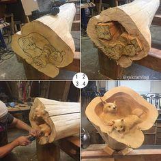 New Ideas For Woodworking Art Sculpture Chainsaw Carvings Learn Woodworking, Woodworking Crafts, Woodworking Plans, Woodworking Videos, Woodworking Quotes, Into The Woods, Wood Carving Art, Wood Art, Dremel Carving