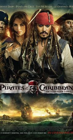 Directed by Rob Marshall.  With Johnny Depp, Penélope Cruz, Ian McShane, Geoffrey Rush. Jack Sparrow and Barbossa embark on a quest to find the elusive fountain of youth, only to discover that Blackbeard and his daughter are after it too.