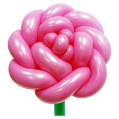 Роза большая Цветок из воздушных шаров. Видео: https://youtu.be/5oVnsOmQ6po Цветы из воздушных шаров, роза из воздушных шаров, flower from balloons, Rose of balloons