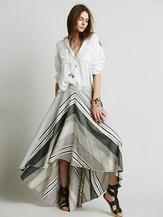 Free People Mae's Striped Maxi Skirt at Free People Clothing Boutique