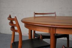 Danish Modern Round Extendable Dining Table in Walnut. $1,700.00, via Etsy.