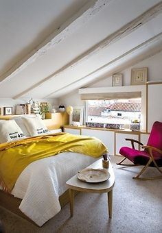 Home Decor Modern Home Design, EV House by Ze Arquitectura attic bedroom Design Chic: In Good Taste: HB Home Design Living room design Attic Bedroom Designs, Attic Bedrooms, Attic Design, Small Bedrooms, Design Bedroom, Dream Bedroom, Home Bedroom, Bedroom Decor, Bedroom Loft