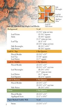 Autumn Leaves: Eleanor Signature Quilt Pattern - Quilt in a Day Books
