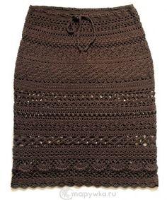 Ажурная вязаная юбка коричневого цвета (brown knitted skirt) #юбка #юбки #вязаныеЮбки #вязание #ВязаниеКрючком #ажур #ВязанаяЮбка #крючок #crochet #skirt #skirts Crochet Skirt Pattern, Crochet Skirts, Knit Skirt, Crochet Clothes, Crochet Slouchy Hat, Crochet Cardigan, Crochet Shawl, Crochet Wedding Dresses, Knit Fashion