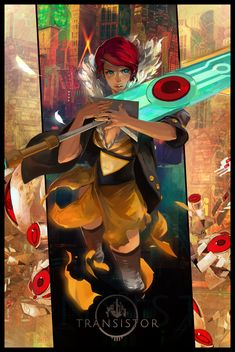 Transistor movie poster - What a beautiful game!