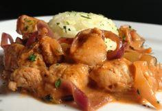 Indiai fűszerezésű csirkeragu Diet Cake, Best Wedding Makeup, Chicken Tikka Masala, Kfc, Naan, Palak Paneer, Chutney, Curry, Favorite Recipes