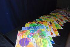 Adventures in Art: Spring Art Show Special Needs Art, Autism Crafts, Sensory Art, Sensory Toys, Kids Canvas Art, Speed Art, Classroom Crafts, Spring Art, Art Lessons Elementary