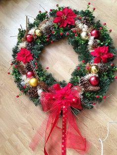 Veľký vianočný veniec 75cm pre Kristinku / anad333 - SAShE.sk - Handmade Dekorácie