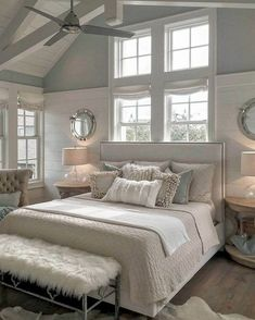 26 Rustic Bedroom Design and Decor Ideas for a Cozy and Comfy Space - The Trending House Master Bedroom Design, Home Bedroom, Bedroom Ideas, Warm Bedroom, Master Suite, Bedroom Furniture, Master Bedrooms, Bedroom Layouts, Chic Master Bedroom
