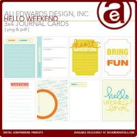 Hello Weekend 3x4 Cards