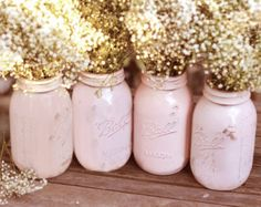 Dusty rose Mason jars?