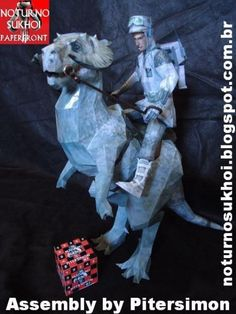 Star Wars - Tauntaun Paper Model - by Noturno Sukhoi      ==    More one great paper model from Star Wars Universe, created by Noturno Sukhoi team: here is the Tautaun. Tauntauns were a species of omnivorous reptomammals who were indigenous to the icy planet of Hoth. Tauntauns were commonly used as pack animals during the Rebel Alliance's stay at Hoth. Tauntauns were also used as patrol mounts when it was learned that the Rebel Alliance's own vehicles could not cope with the very cold…