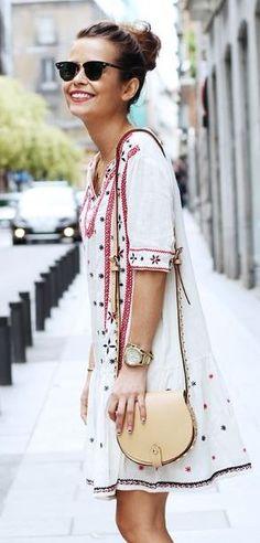 Little dress and mini saddle bag