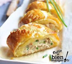 Roulé au thon et Rondelé Citron Givré - - Herb Recipes, Cooking Recipes, Healthy Recipes, Healthy Food, Tapas, Salty Foods, Quiches, Easy Cooking, Chefs