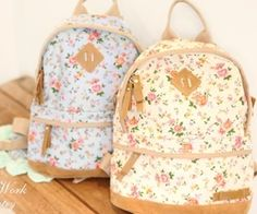 Coty flower backpack -2colors