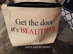 Get the door its Beautiful, Cosmetic, Make up bag by gr8byz