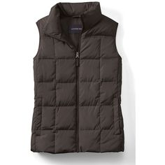 Lands' End Women's Tall Down Vest ($20) ❤ liked on Polyvore featuring outerwear, vests, lands' end, down vest, colorful vest, lands end vest and down filled vest