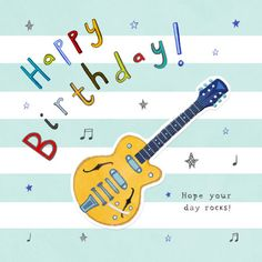 Happy Birthday Guitar, Happy Birthday Mike, Cool Birthday Cards, Birthday Pins, Happy Birthday Messages, Happy Birthday Quotes, Happy Birthday Images, Happy Birthday Greetings, Birthday Wishes