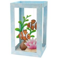 Paper Aquarium : Clownfish,Animals,Paper Craft,Waterweed,seagrass,coral,fish,sea,Clown fish,Aquarium