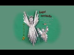 Ángel navideño reciclando hojas de papel periódico y revistas - Christmas angel recycling newspaper - YouTube