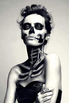Skeleton make up by Mademoselle MU
