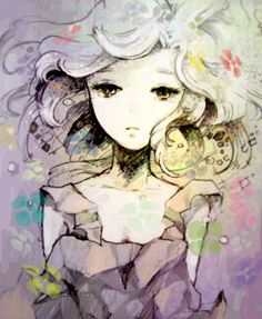 http://m.weheartit.com/entry/25879385 anime art color cute draw drawing hair manga paint painting pastel pic picture water watercolor