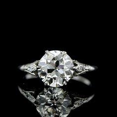 Edwardian Diamond Engagement Ring   Edwardian Jewelry