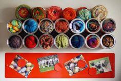 balls of wool organizer