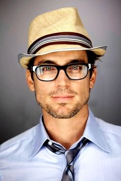"Matt Bomer, from the TV show ""White Collar"" wears an excellent straw fedora in this headshot."