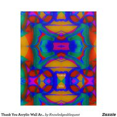 Thank You Acrylic Wall Art #9b Acrylic Wall Art