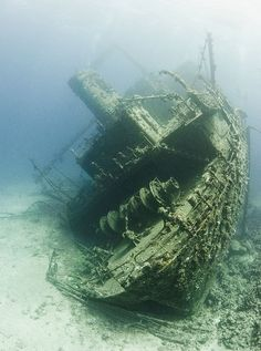 Sunken Ship. There is something eerily beautiful about sunken ships.