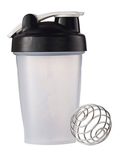 BONISON Mix Whip Blend  Shake Clear Colored Screw Top Shaker Bottle Wire Whisk Sport Mixer Smoothie Protein Weight Loss Shakes  Powders with Handle Black 14 oz >>> Read more reviews of the product by visiting the link on the image.Note:It is affiliate link to Amazon.