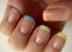 easy color nail design for simple women
