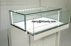 wood display showcases glass jewelry case