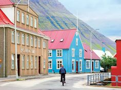 Downtown Isafjordur, Westfjords' quaint capital.