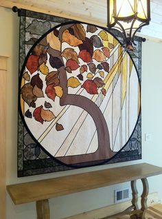 Cyndi Souder / Moonlighting Quilts  Commissioned quilt in place - private collection